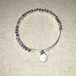 Alex and Ani silver beaded bracelet